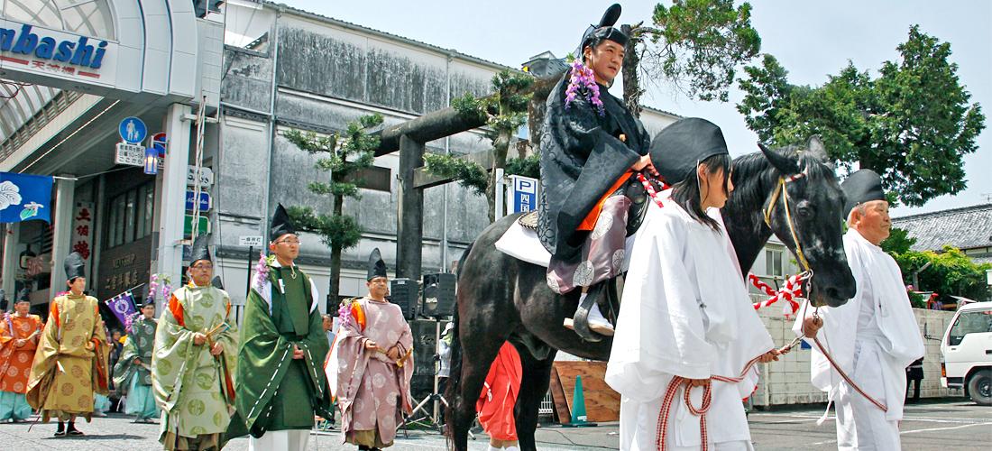 """Tosa Ichijo court noble line """"wisteria Festival"""""""
